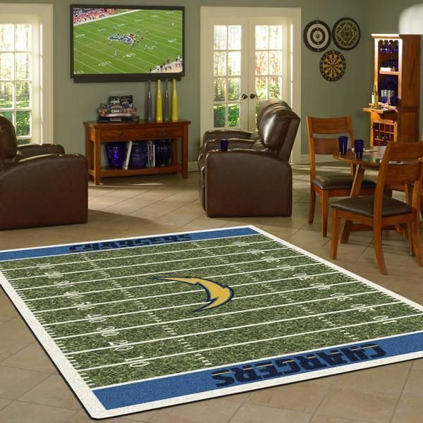 Amazon Los Angeles Chargers Living Room Area No3521 Rug