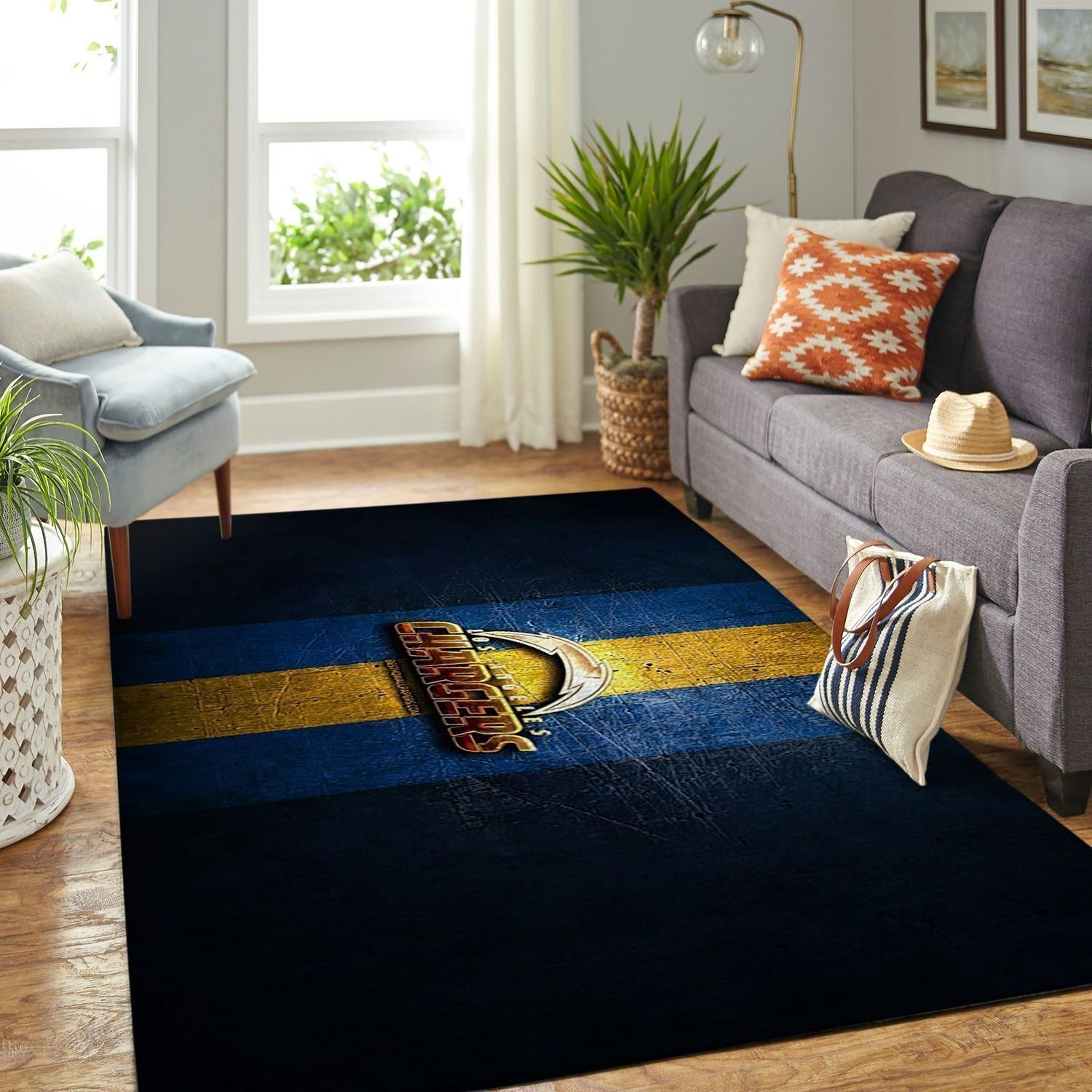 Amazon Los Angeles Chargers Living Room Area No3525 Rug