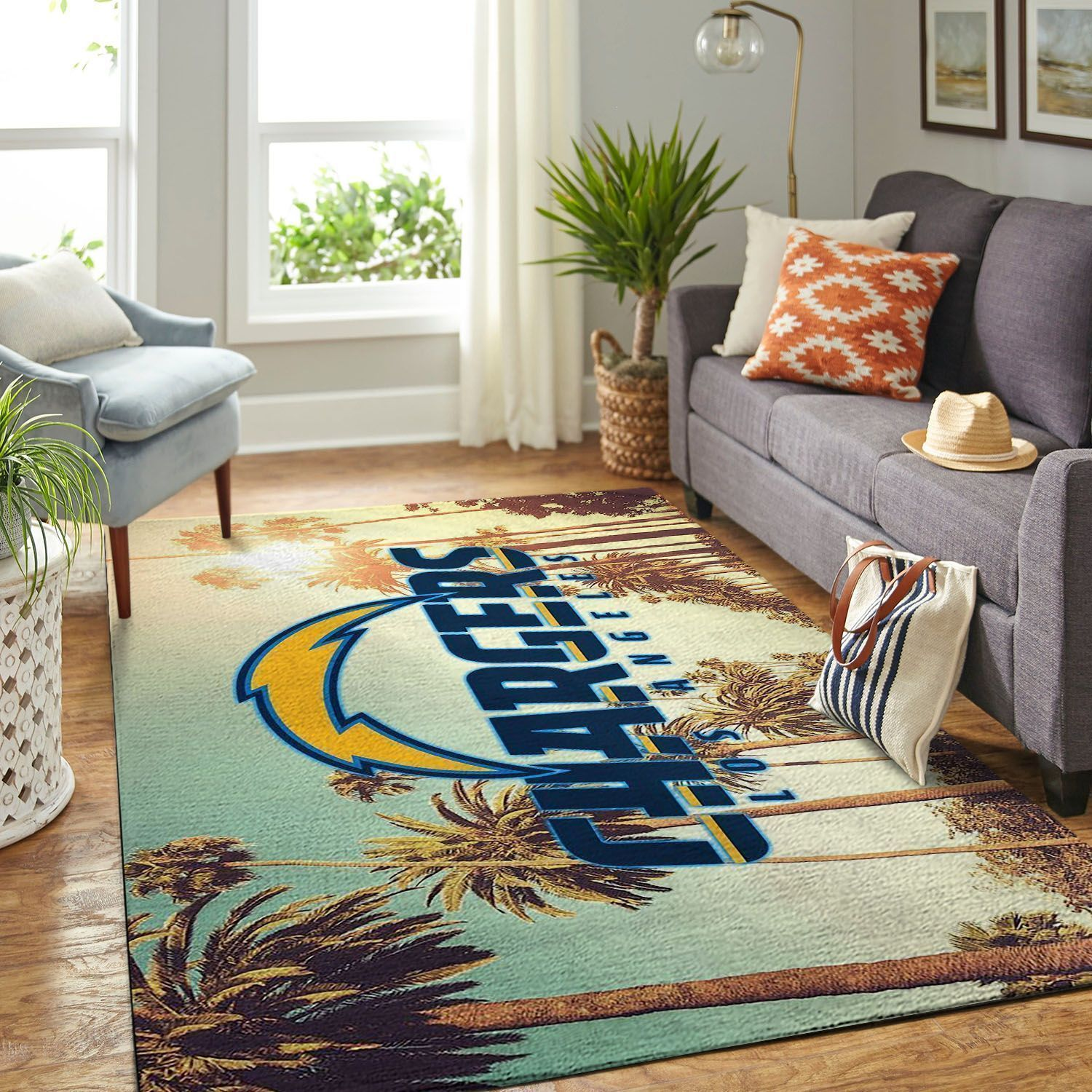 Amazon Los Angeles Chargers Living Room Area No3526 Rug