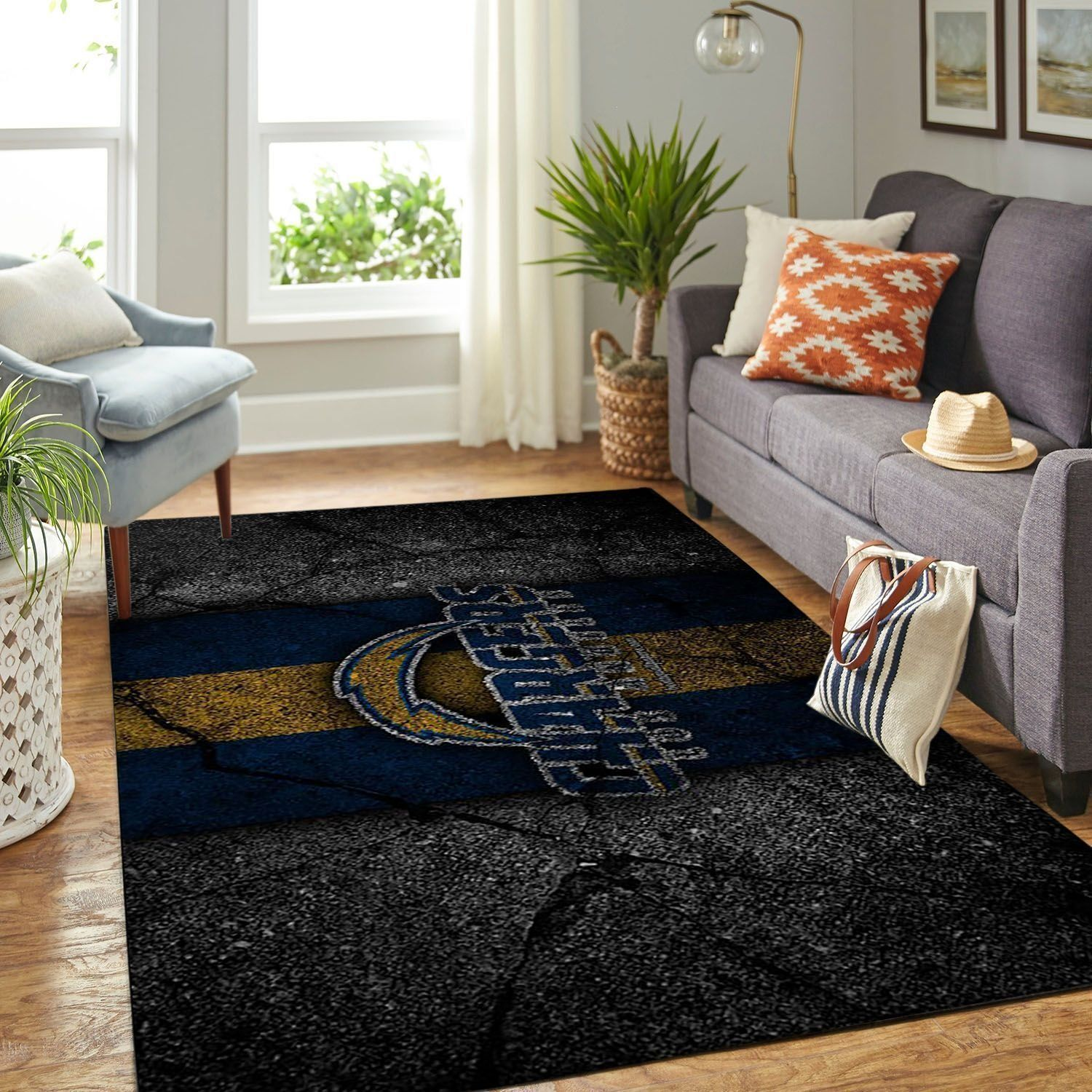 Amazon Los Angeles Chargers Living Room Area No3529 Rug