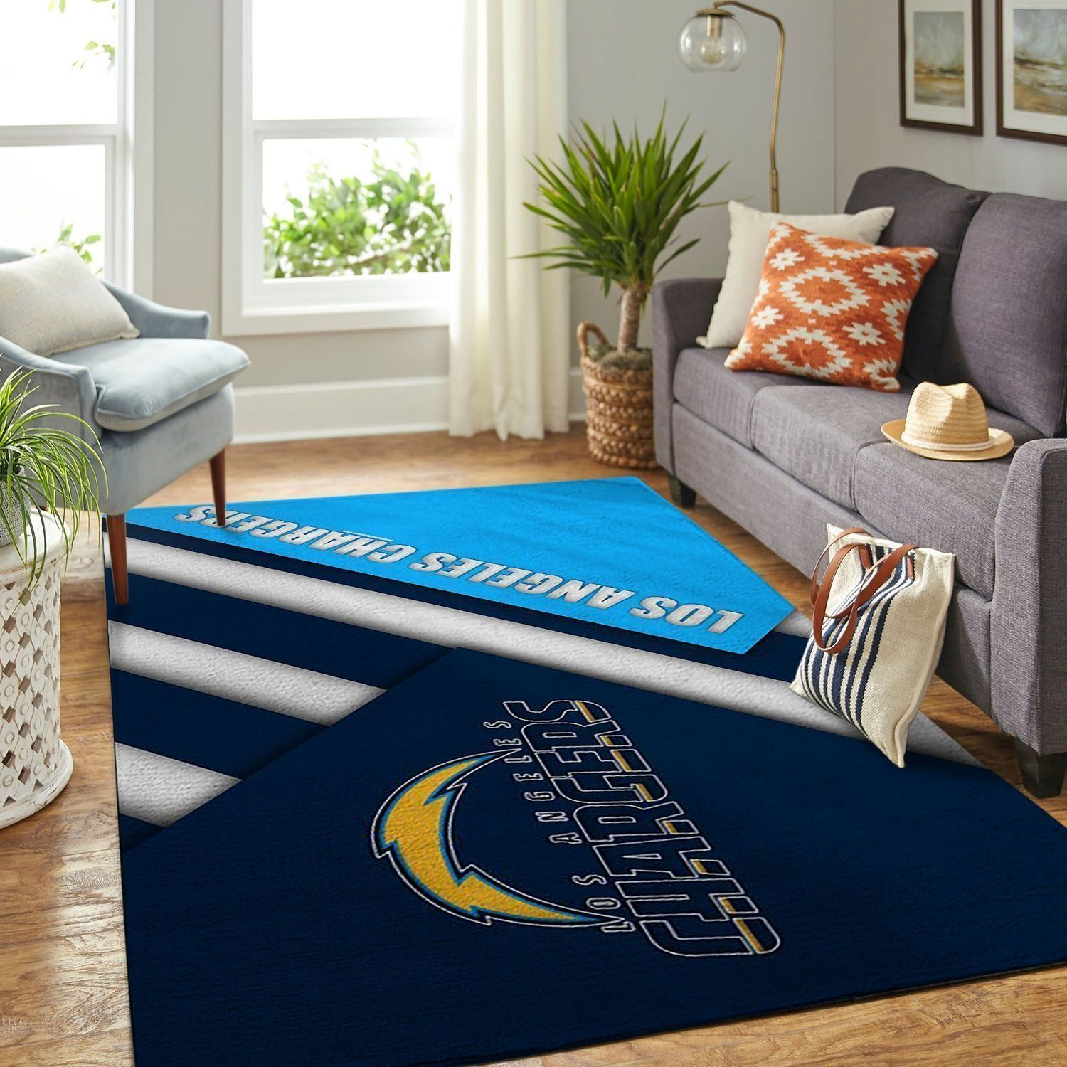 Amazon Los Angeles Chargers Living Room Area No3530 Rug