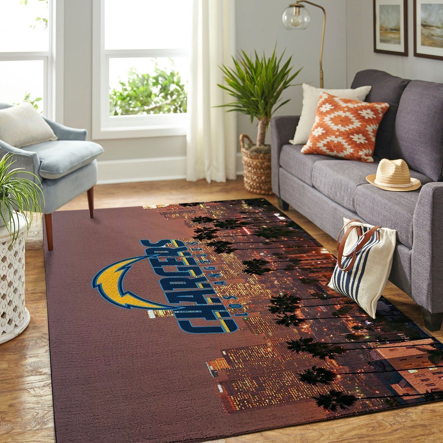 Amazon Los Angeles Chargers Living Room Area No3531 Rug