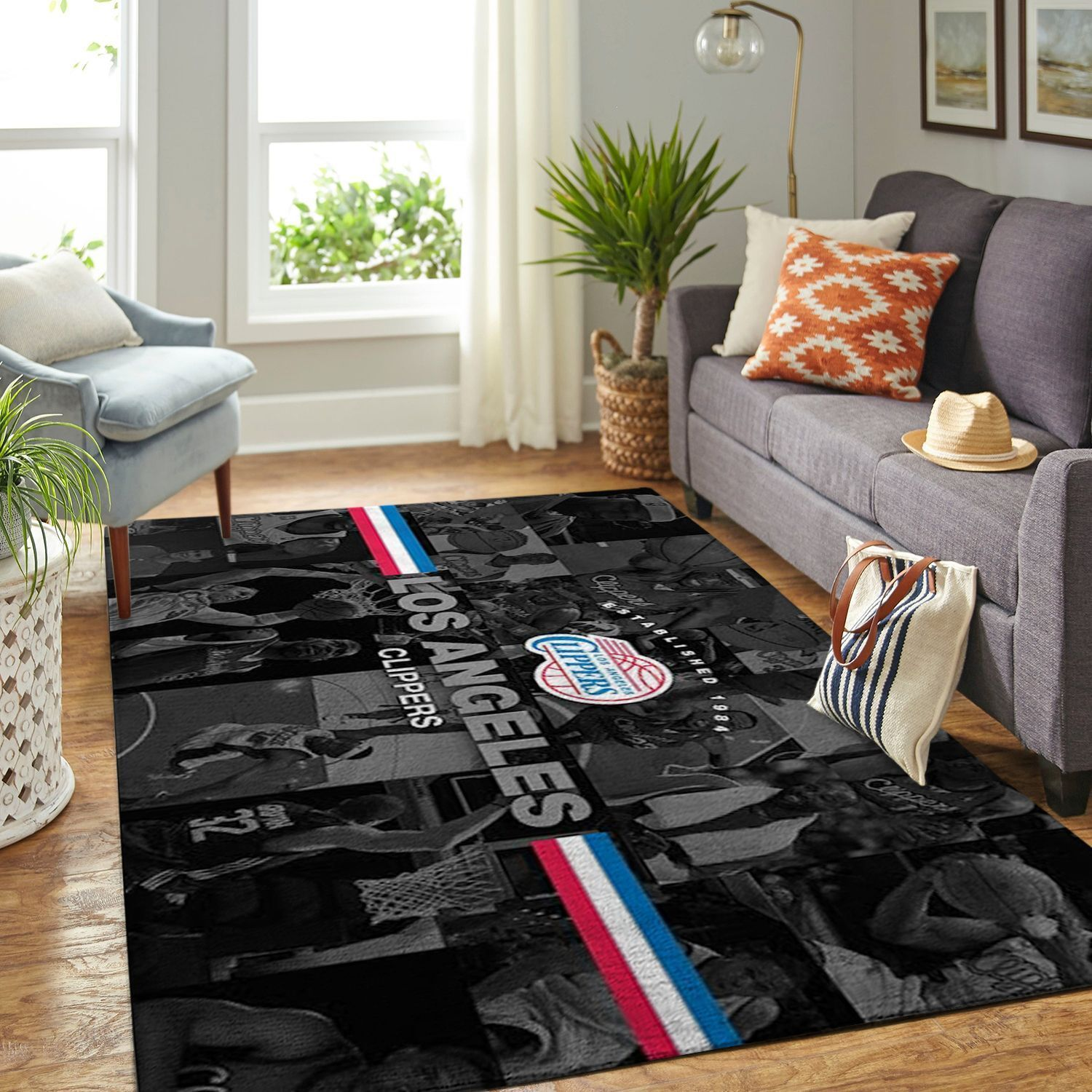 Amazon Los Angeles Clippers Living Room Area No3549 Rug