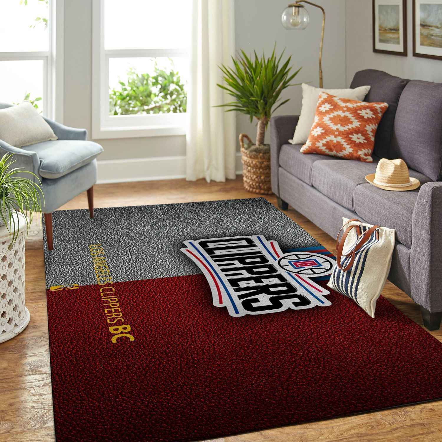 Amazon Los Angeles Clippers Living Room Area No3551 Rug