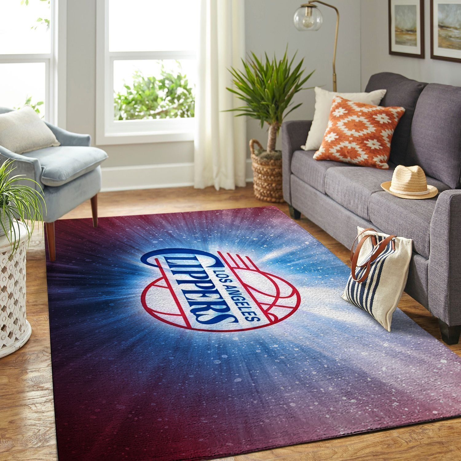 Amazon Los Angeles Clippers Living Room Area No3552 Rug
