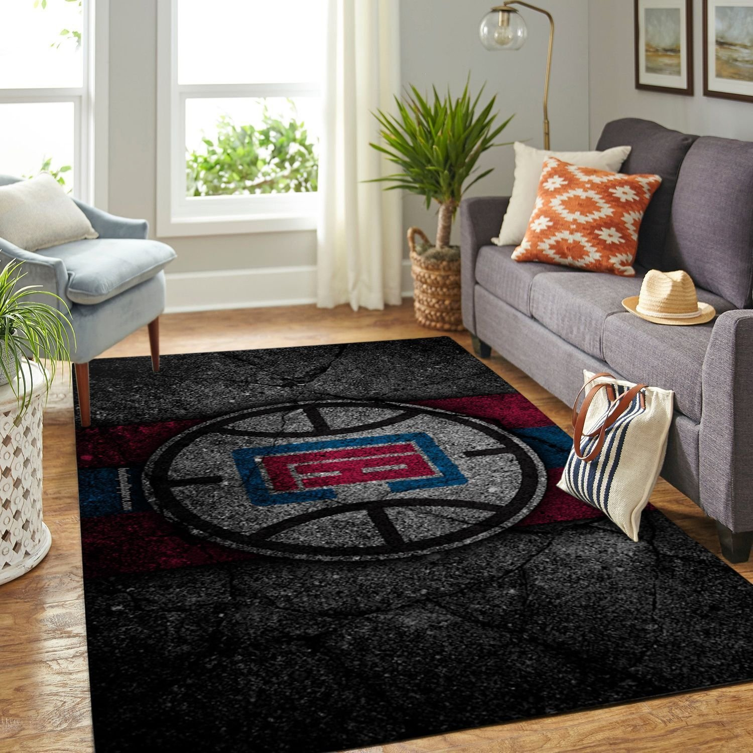 Amazon Los Angeles Clippers Living Room Area No3553 Rug