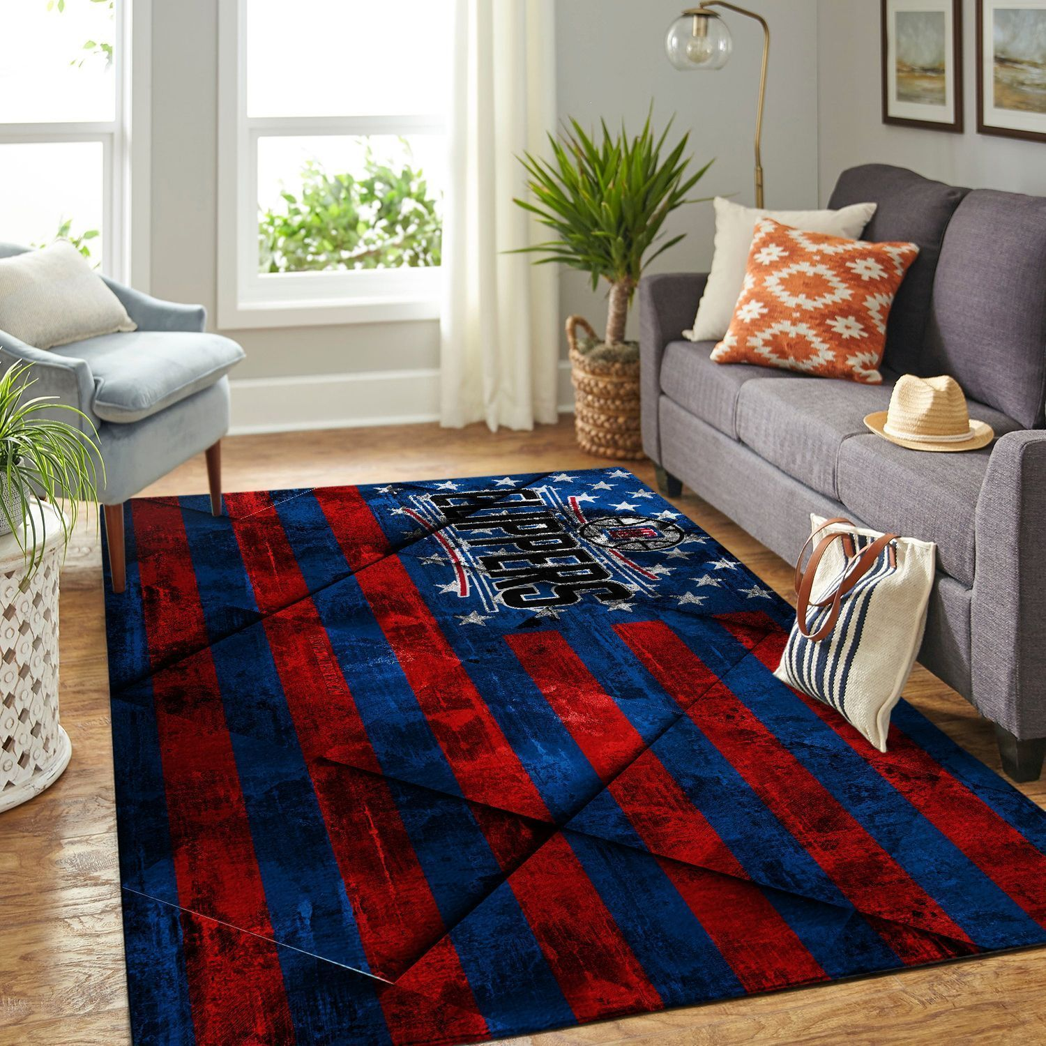 Amazon Los Angeles Clippers Living Room Area No3555 Rug