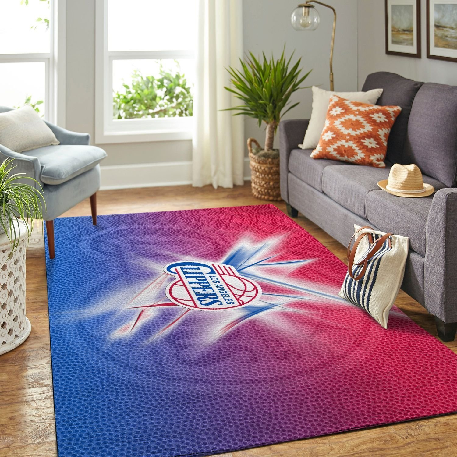 Amazon Los Angeles Clippers Living Room Area No3556 Rug