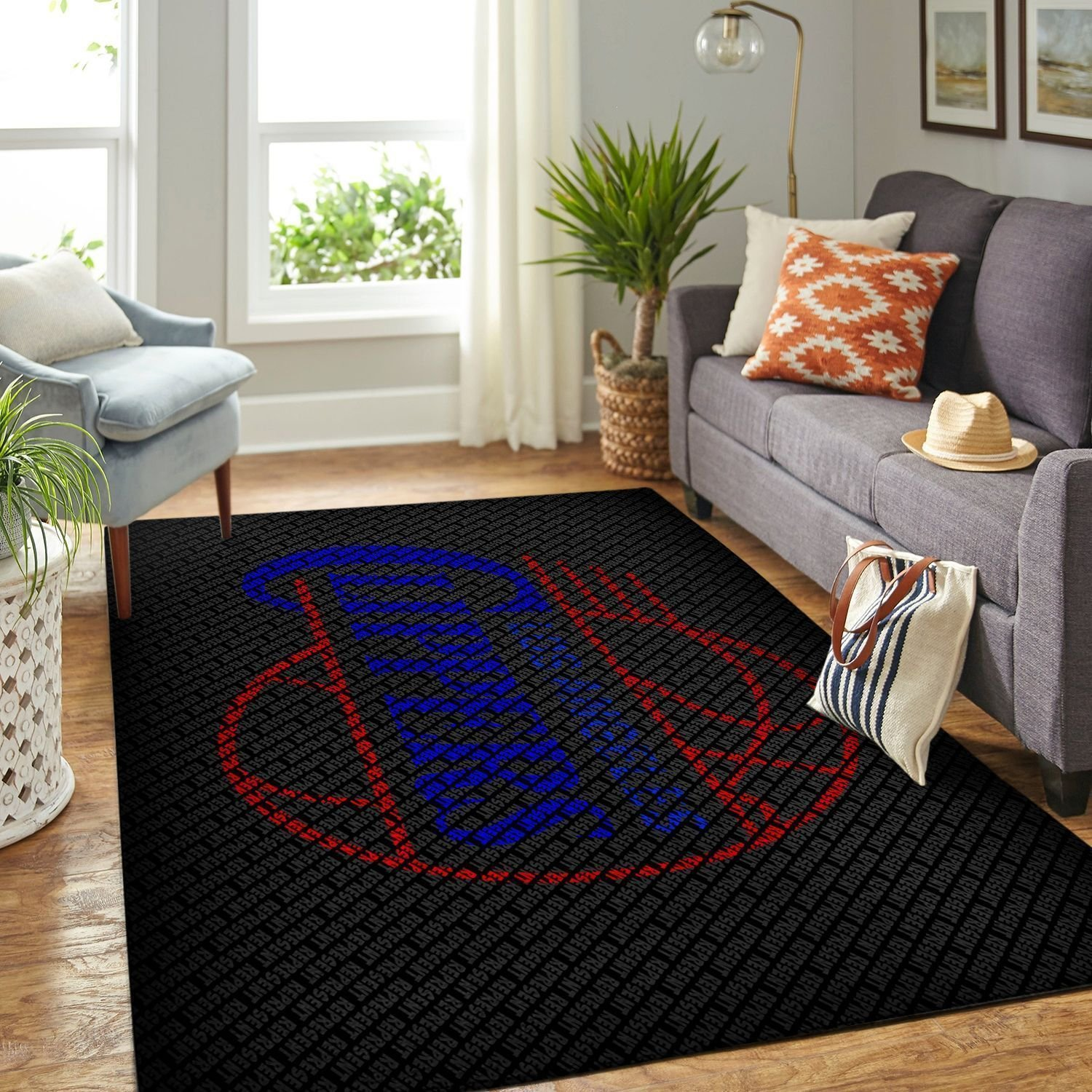 Amazon Los Angeles Clippers Living Room Area No3557 Rug