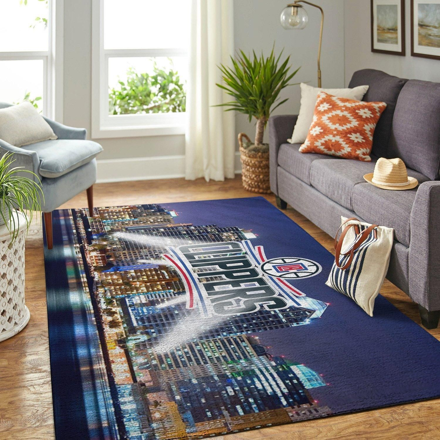 Amazon Los Angeles Clippers Living Room Area No3559 Rug