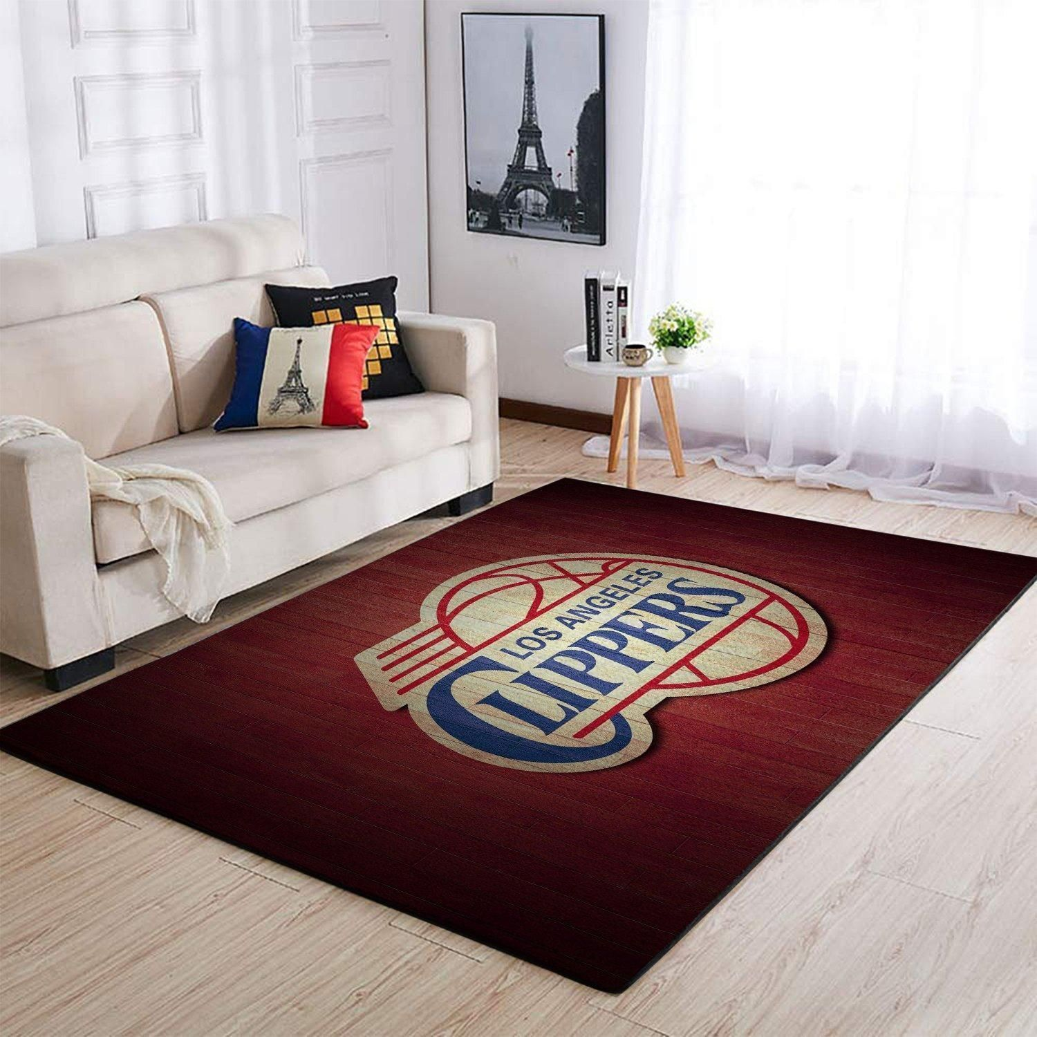 Amazon Los Angeles Clippers Living Room Area No3567 Rug
