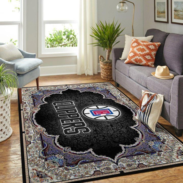 Amazon Los Angeles Clippers Living Room Area No3572 Rug