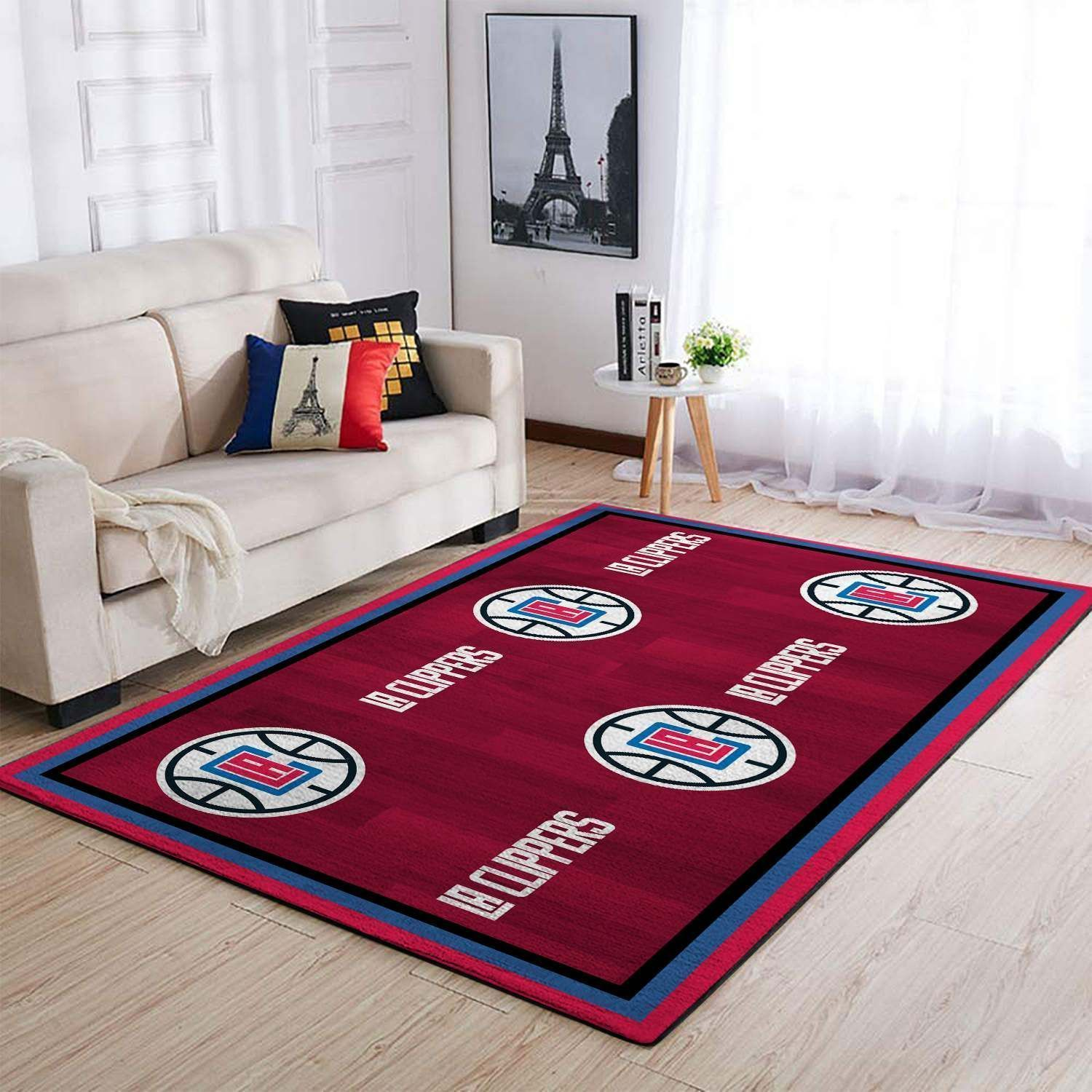 Amazon Los Angeles Clippers Living Room Area No3576 Rug
