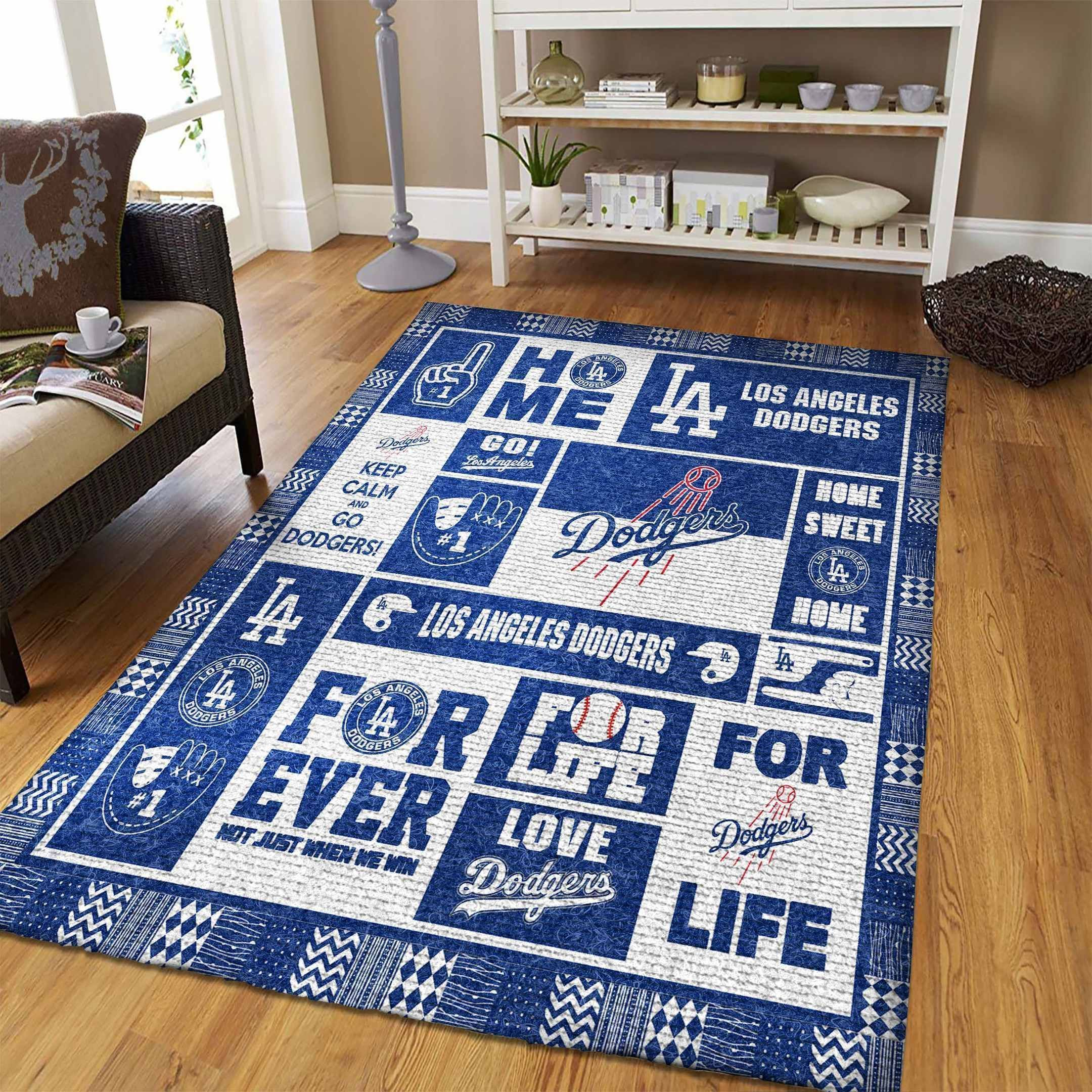 Amazon Los Angeles Dodgers Living Room Area No3590 Rug