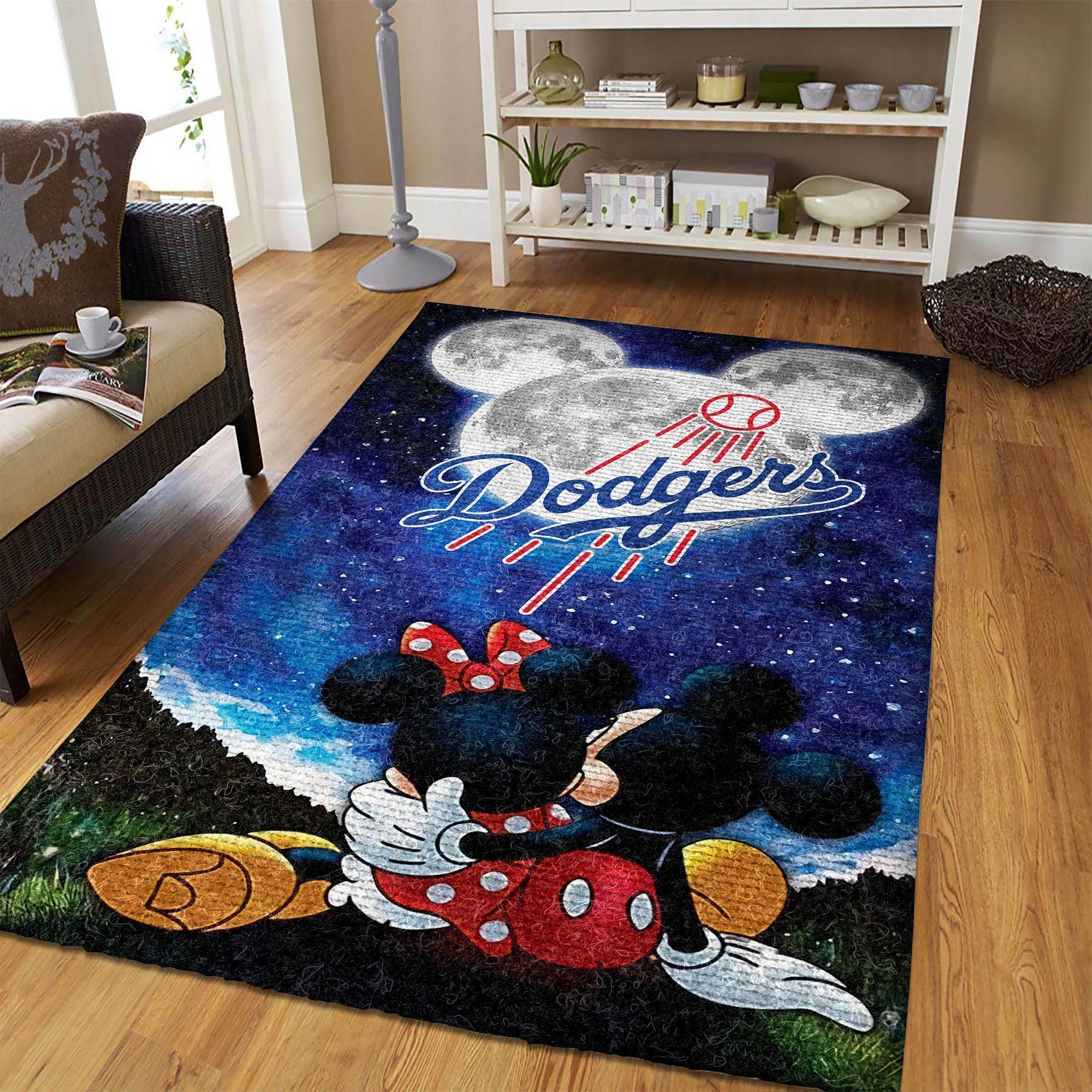 Amazon Los Angeles Dodgers Living Room Area No3594 Rug