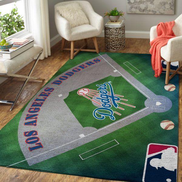 Amazon Los Angeles Dodgers Living Room Area No3596 Rug