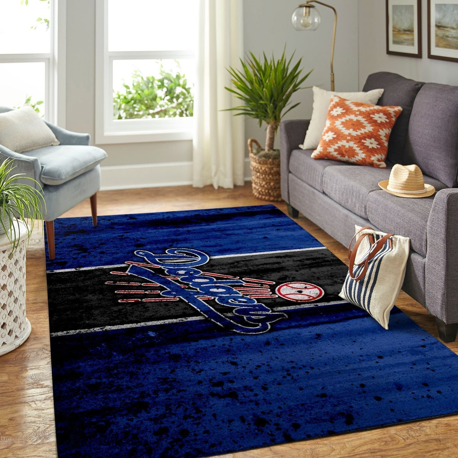 Amazon Los Angeles Dodgers Living Room Area No3607 Rug