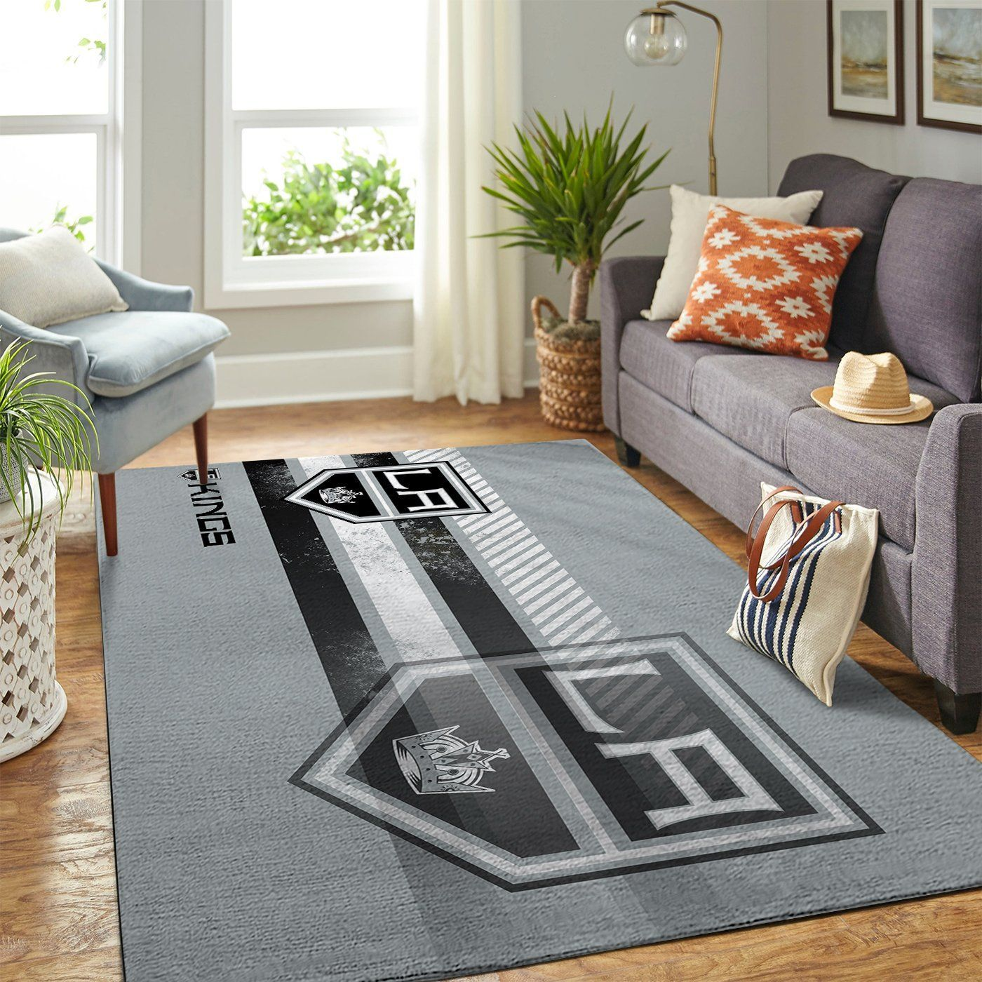 Amazon Los Angeles Kings Living Room Area No3615 Rug