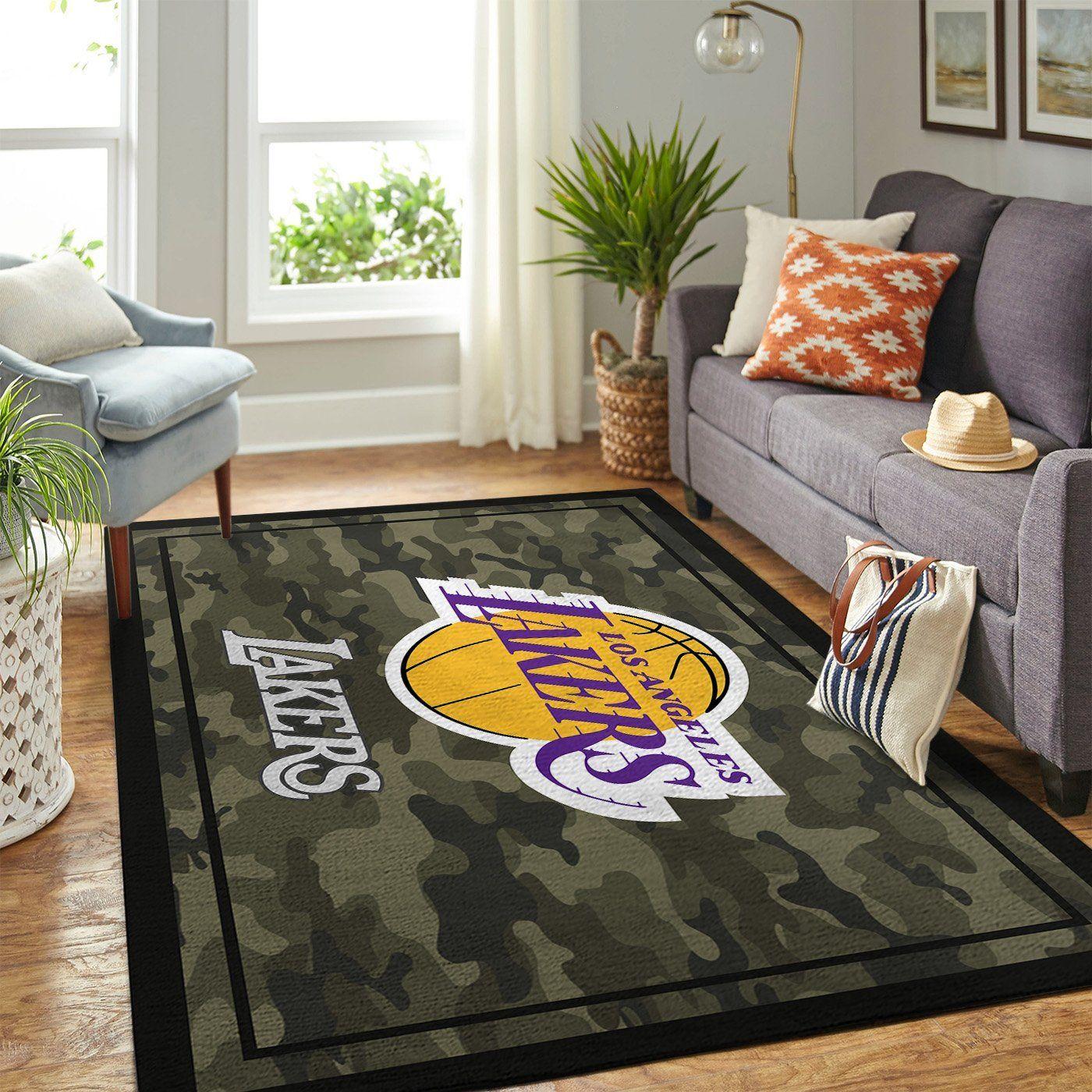 Amazon Los Angeles Lakers Living Room Area No3619 Rug