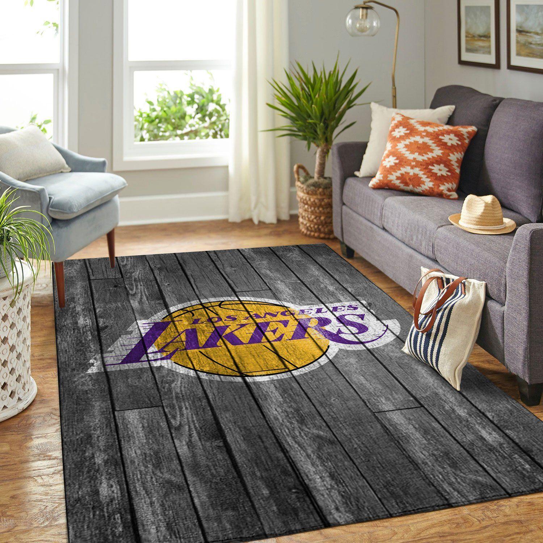 Amazon Los Angeles Lakers Living Room Area No3620 Rug