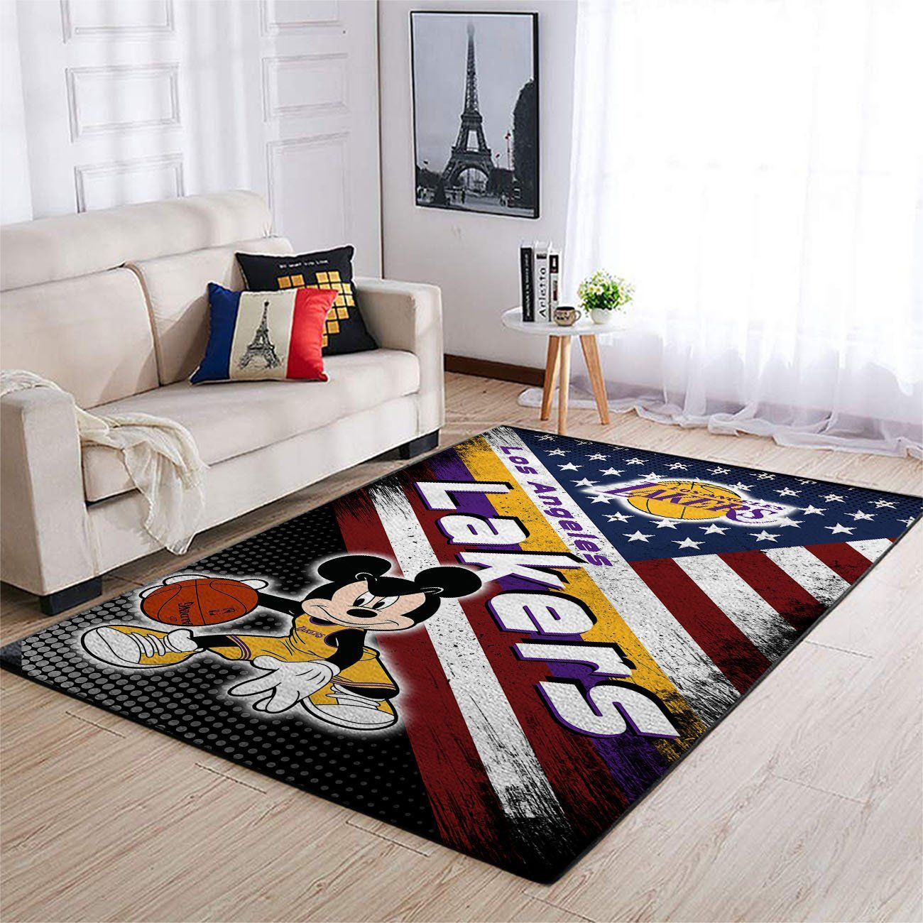 Amazon Los Angeles Lakers Living Room Area No3621 Rug