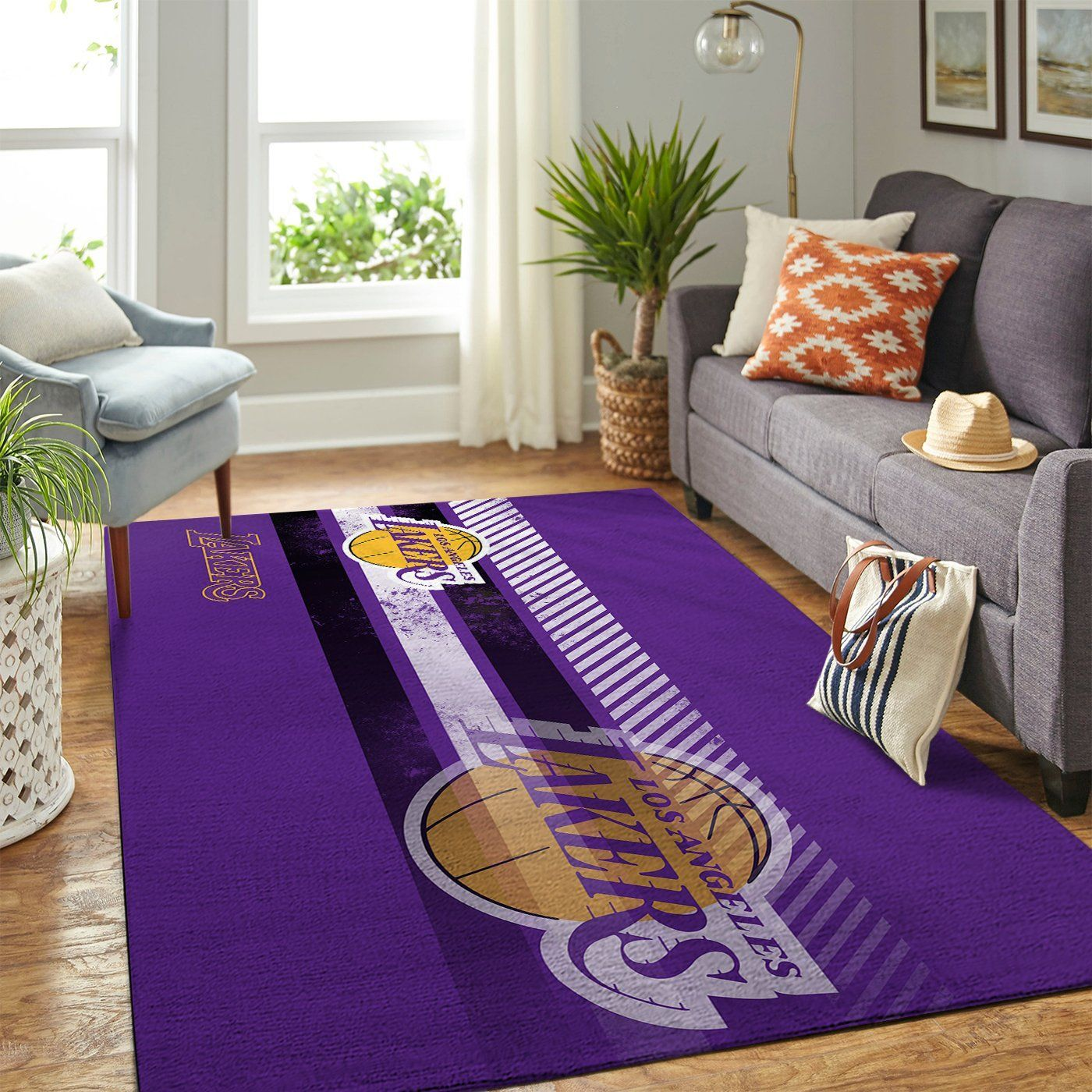 Amazon Los Angeles Lakers Living Room Area No3622 Rug