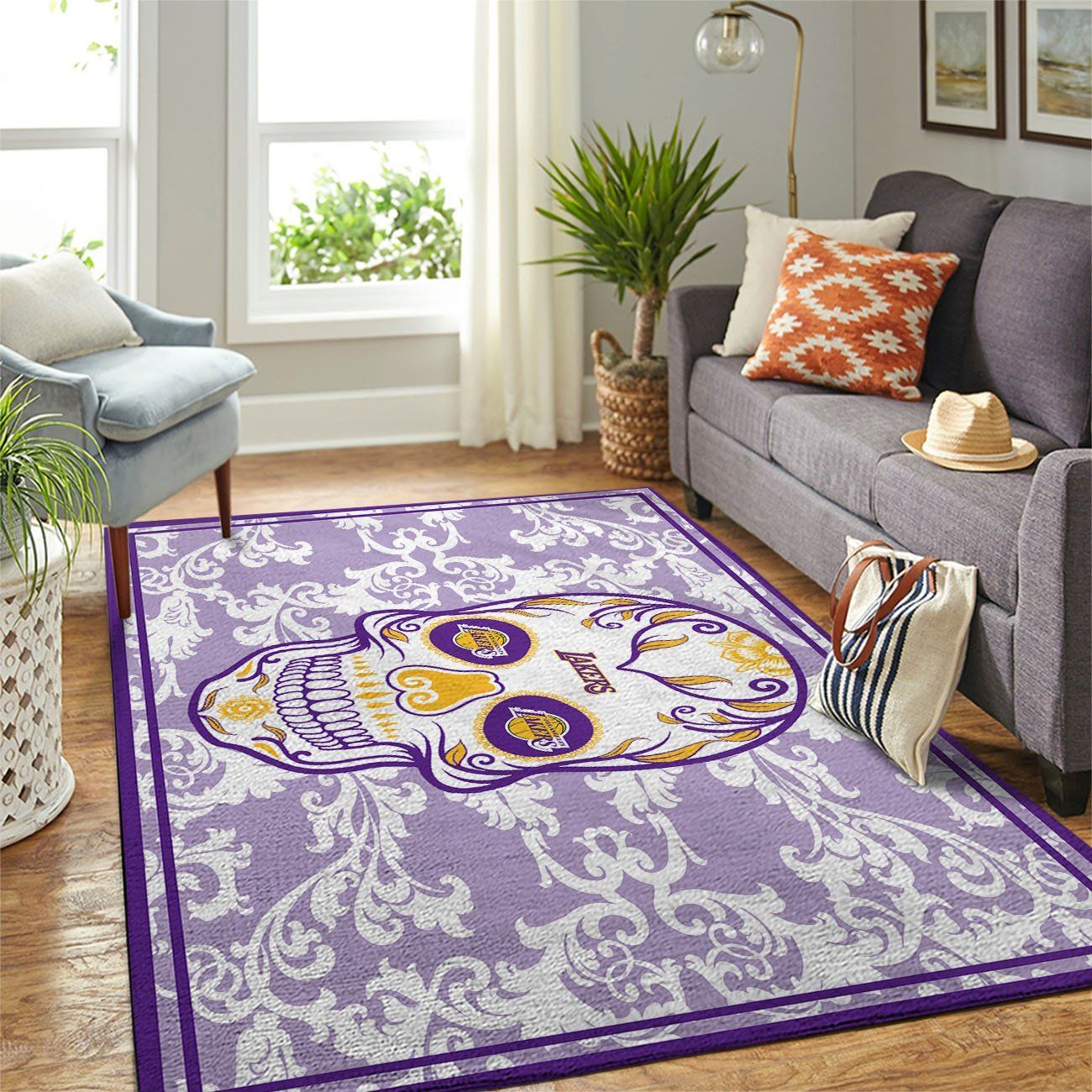 Amazon Los Angeles Lakers Living Room Area No3623 Rug