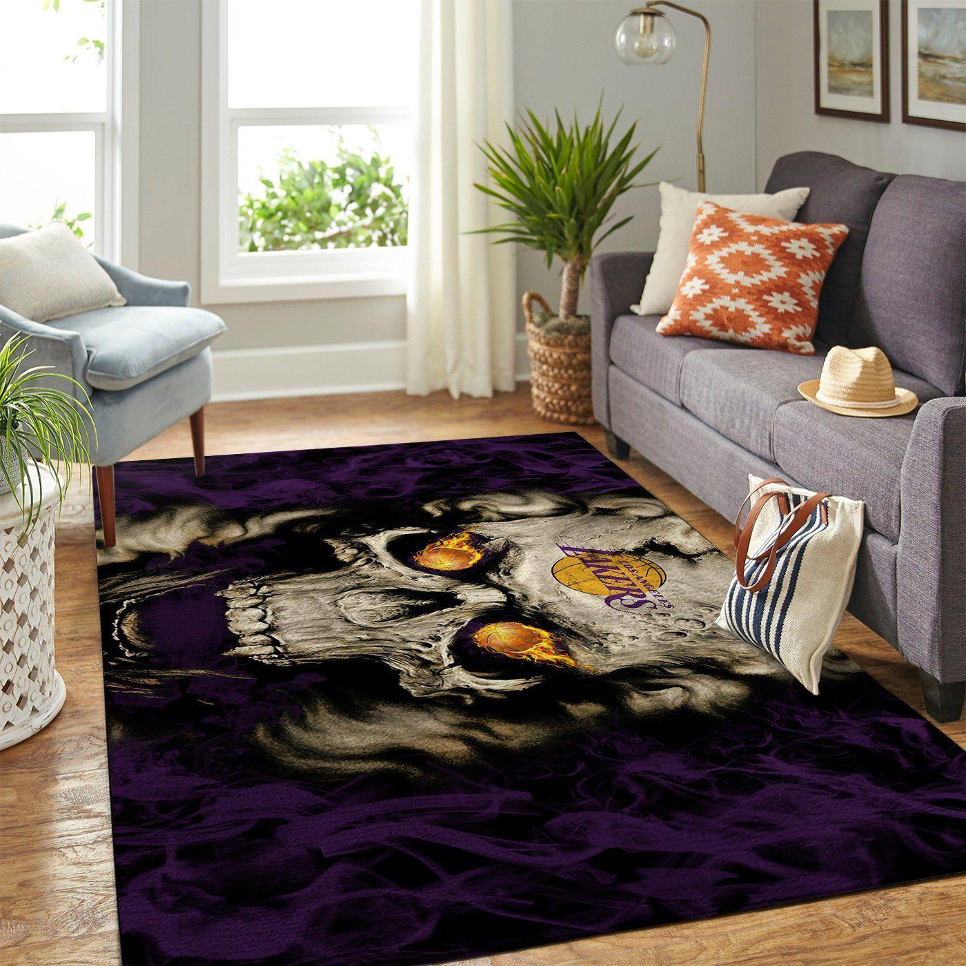 Amazon Los Angeles Lakers Living Room Area No3624 Rug