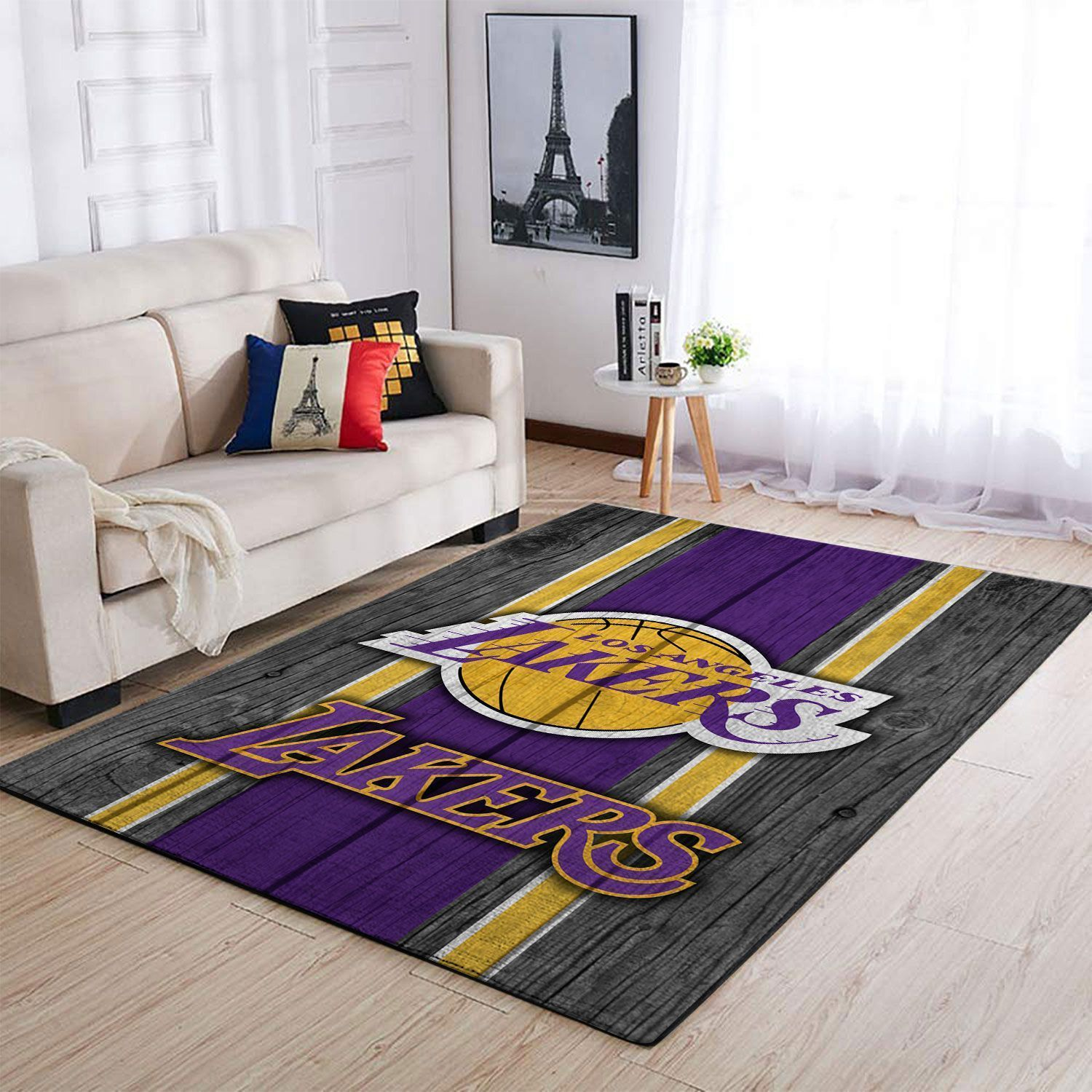 Amazon Los Angeles Lakers Living Room Area No3625 Rug