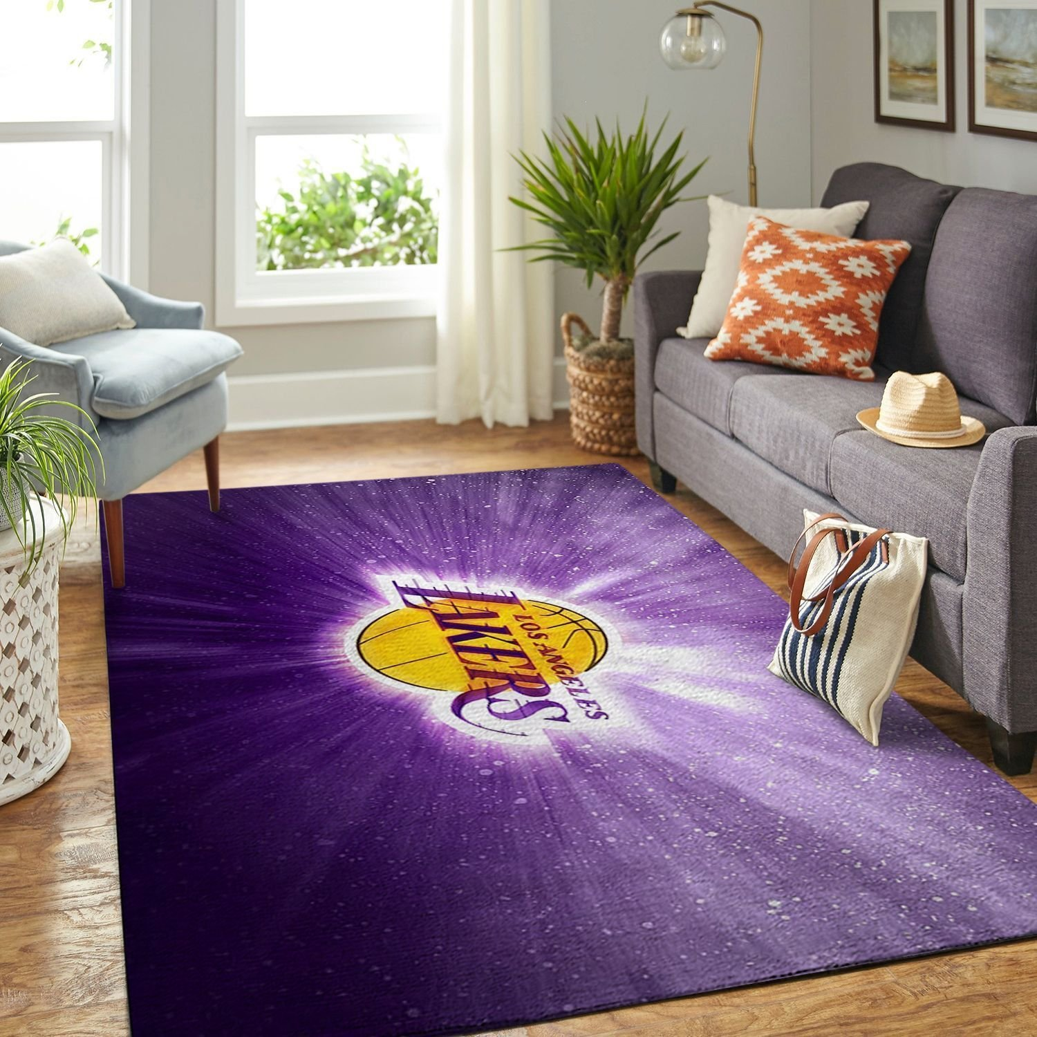 Amazon Los Angeles Lakers Living Room Area No3628 Rug