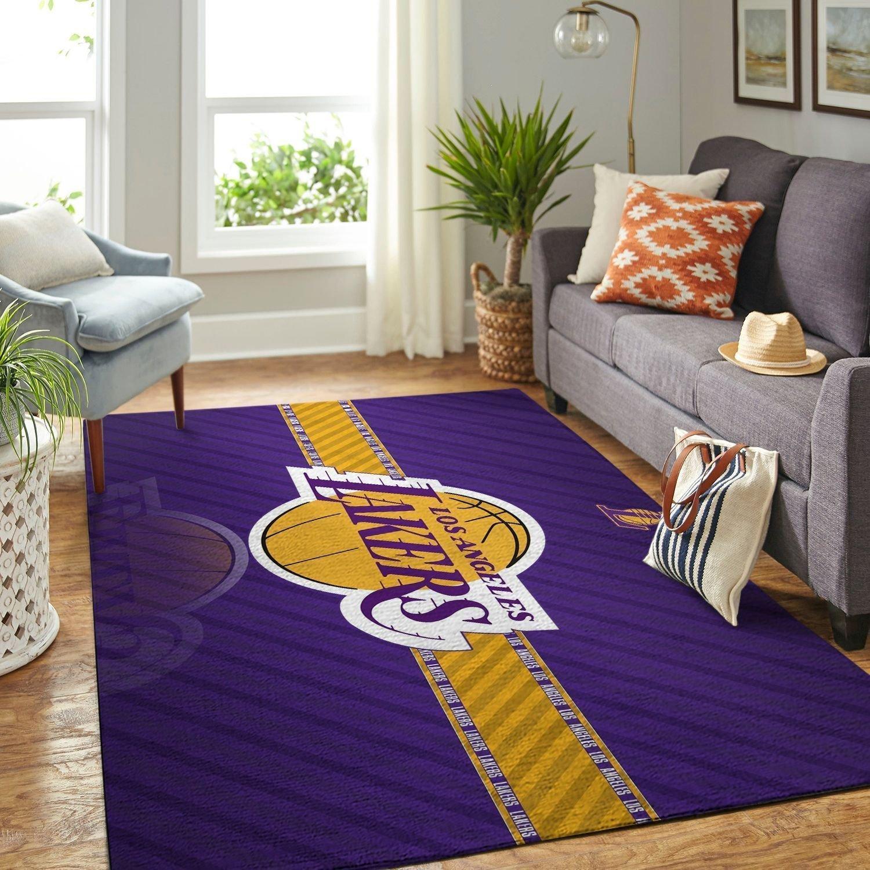 Amazon Los Angeles Lakers Living Room Area No3632 Rug