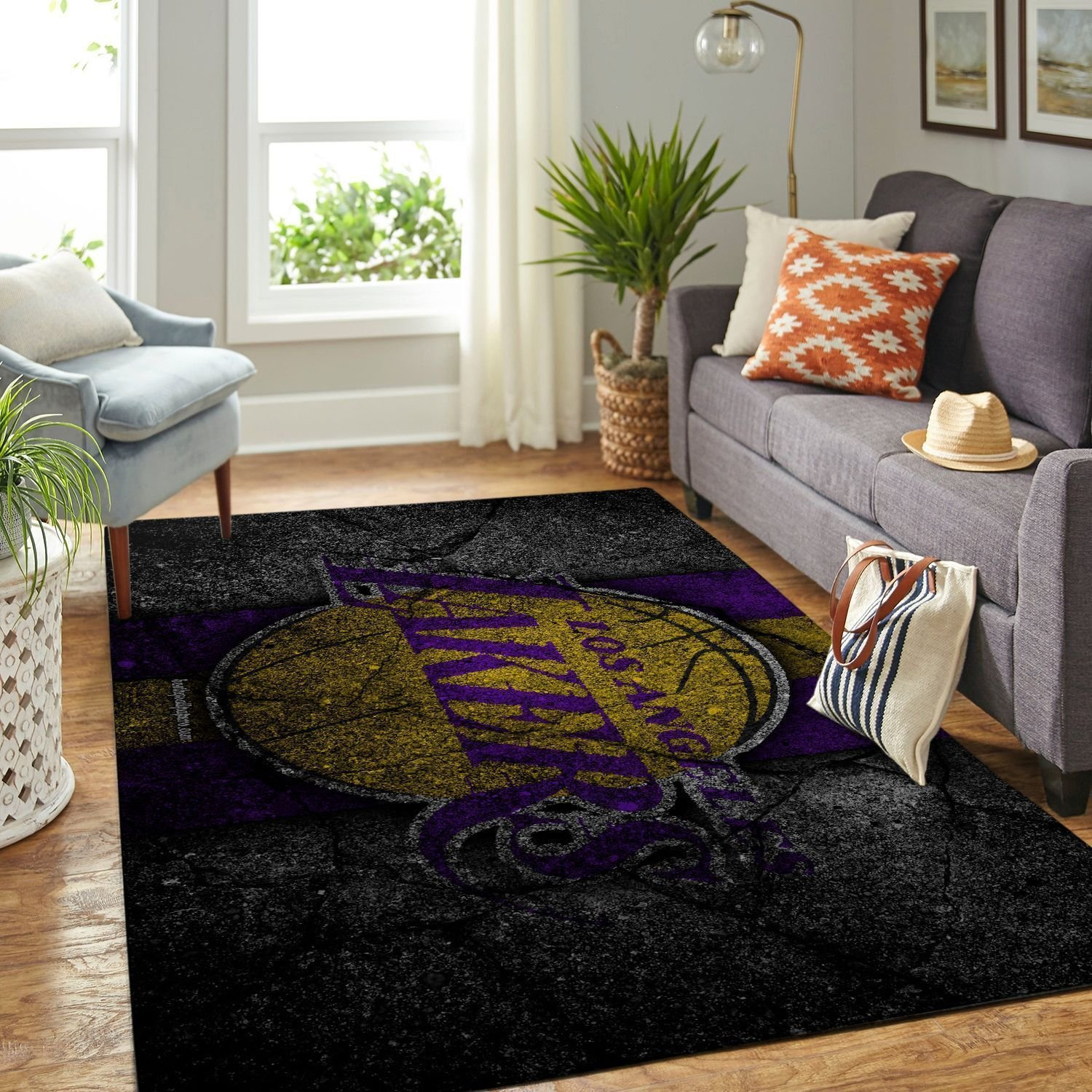 Amazon Los Angeles Lakers Living Room Area No3633 Rug