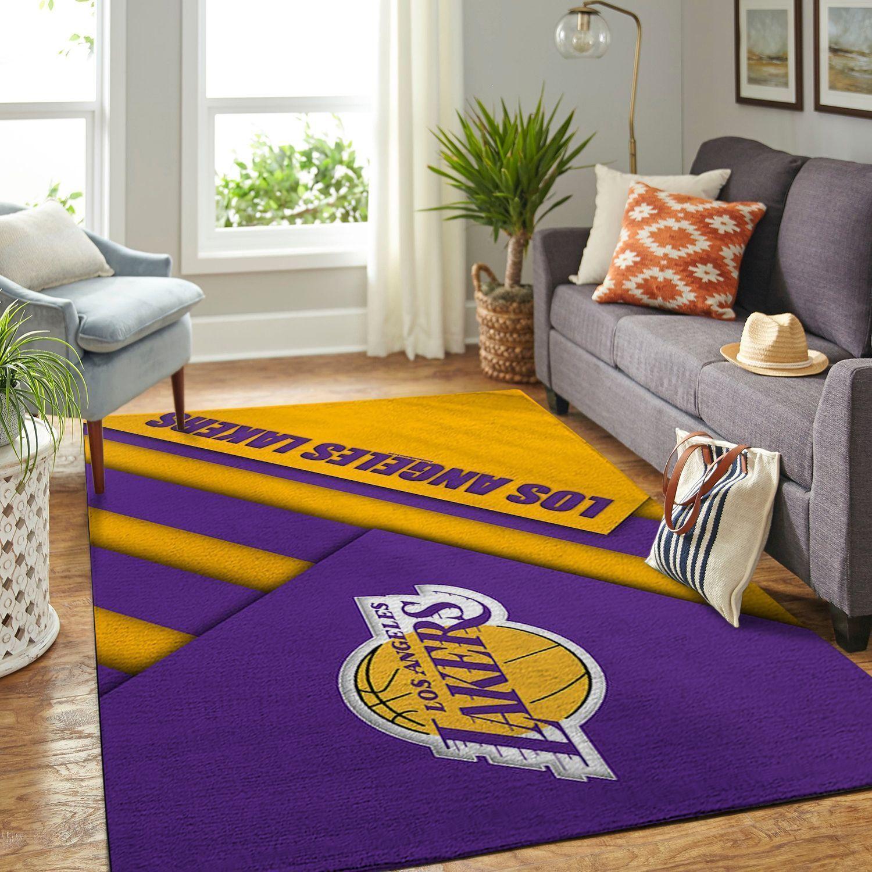 Amazon Los Angeles Lakers Living Room Area No3635 Rug