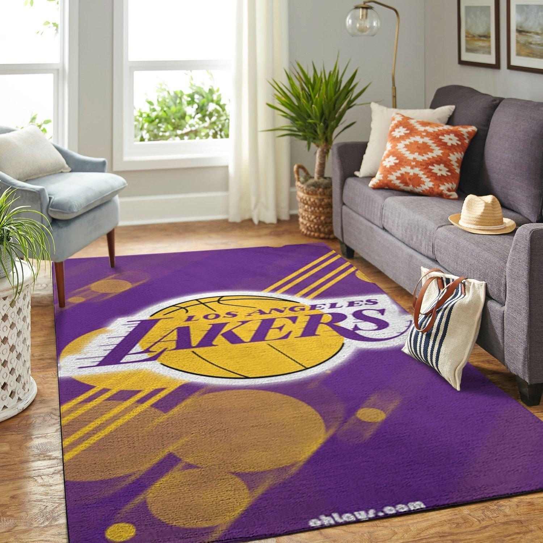 Amazon Los Angeles Lakers Living Room Area No3636 Rug
