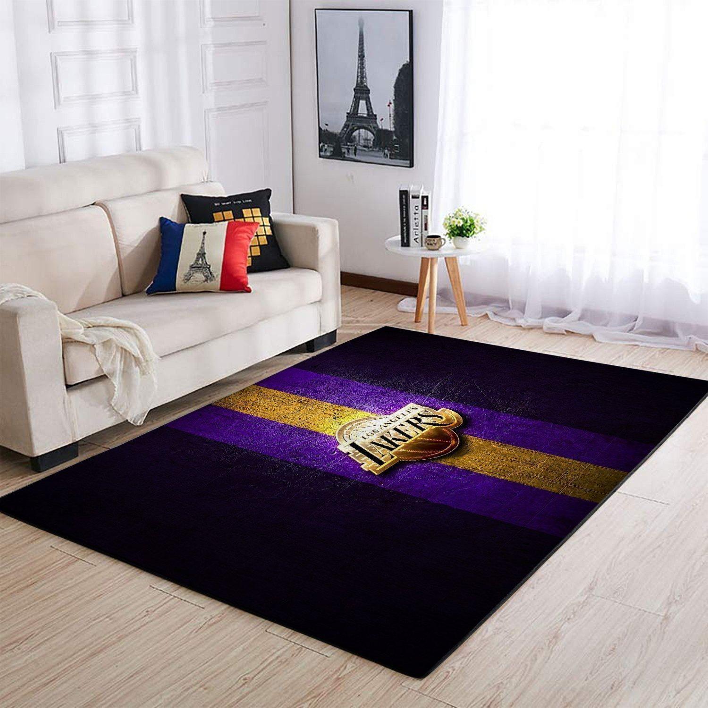 Amazon Los Angeles Lakers Living Room Area No3637 Rug