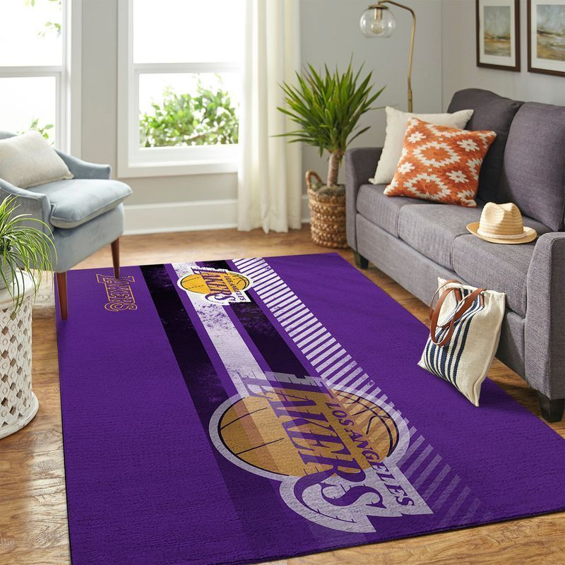 Amazon Los Angeles Lakers Living Room Area No3638 Rug