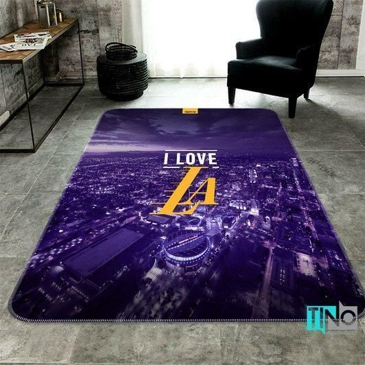 Amazon Los Angeles Lakers Living Room Area No3639 Rug