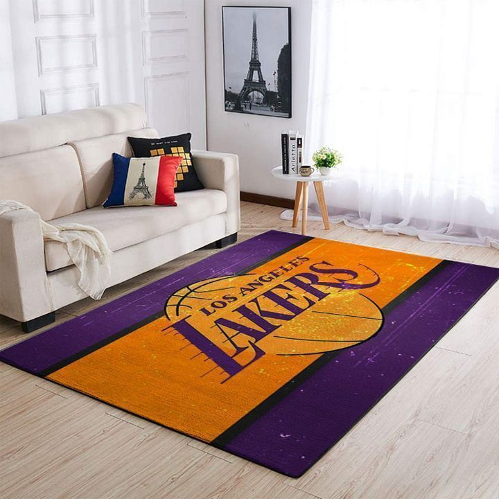 Amazon Los Angeles Lakers Living Room Area No3640 Rug