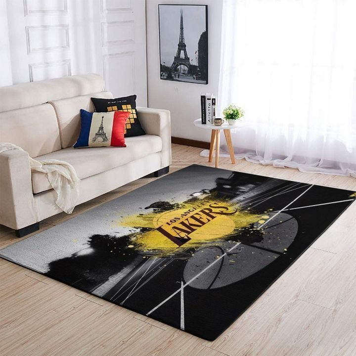 Amazon Los Angeles Lakers Living Room Area No3645 Rug