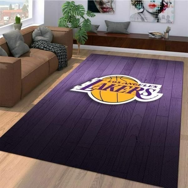 Amazon Los Angeles Lakers Living Room Area No3646 Rug