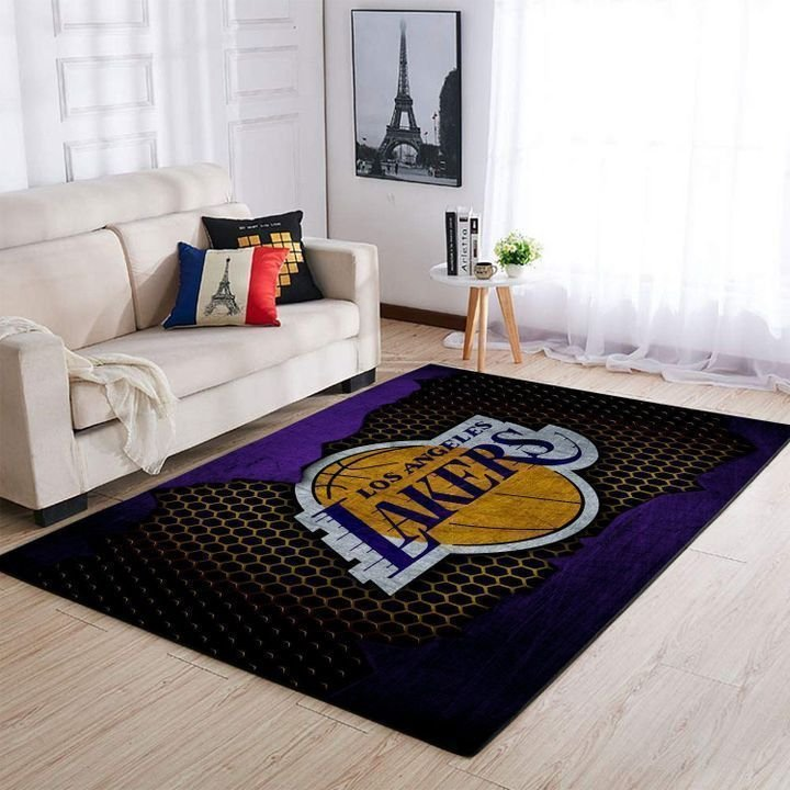 Amazon Los Angeles Lakers Living Room Area No3647 Rug