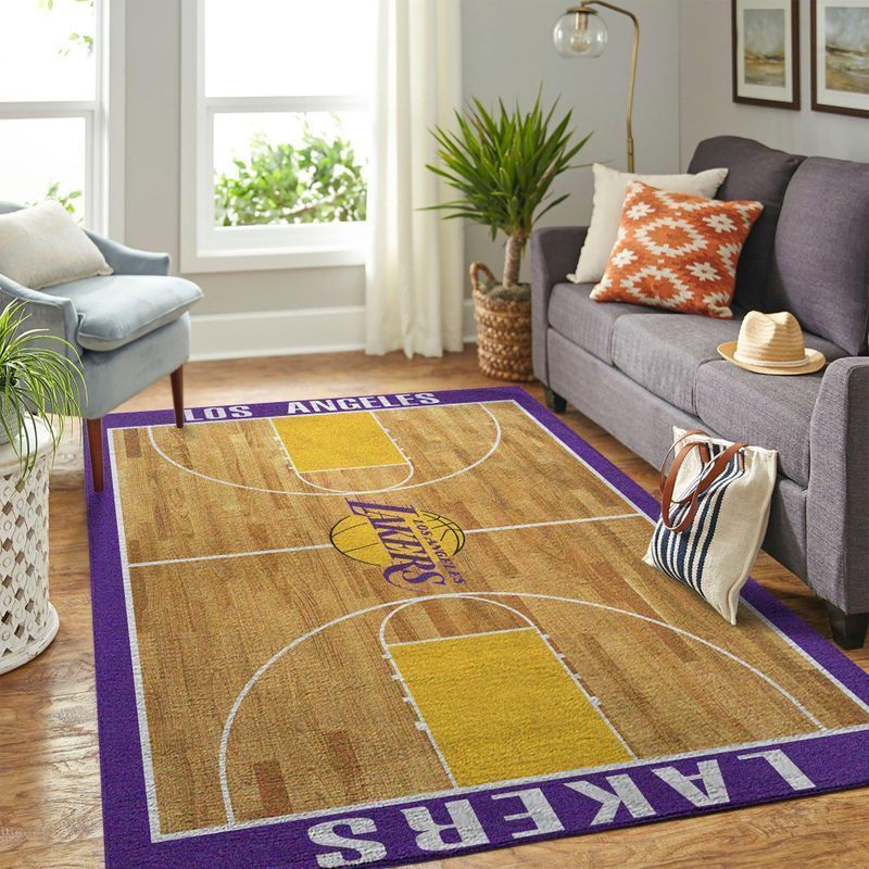 Amazon Los Angeles Lakers Living Room Area No3650 Rug