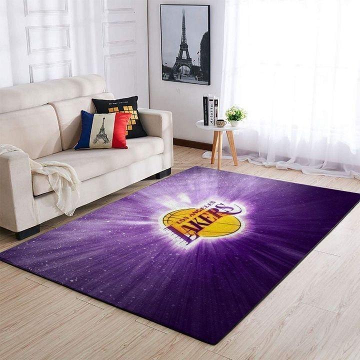 Amazon Los Angeles Lakers Living Room Area No3654 Rug