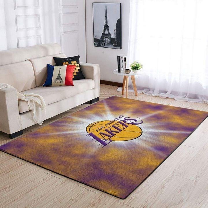 Amazon Los Angeles Lakers Living Room Area No3655 Rug