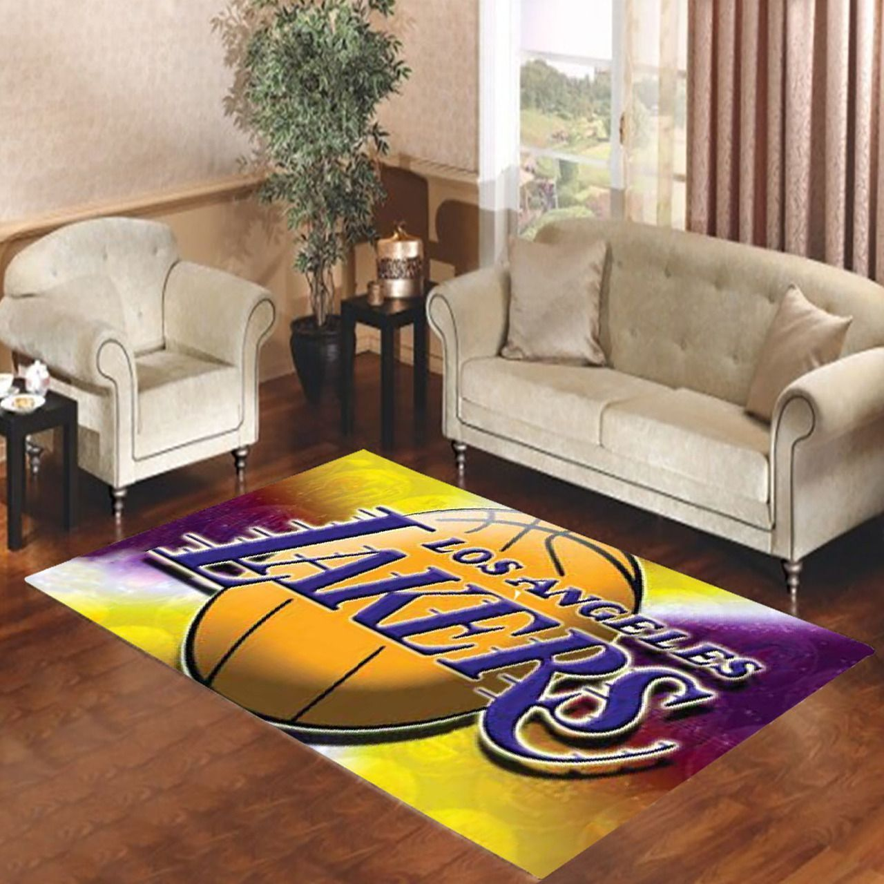 Amazon Los Angeles Lakers Living Room Area No3656 Rug