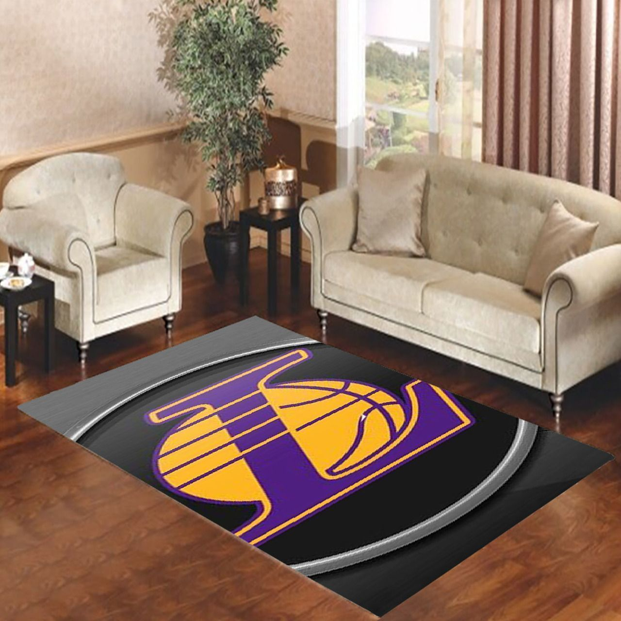 Amazon Los Angeles Lakers Living Room Area No3657 Rug