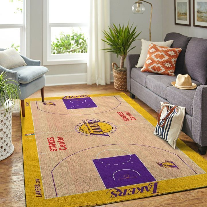 Amazon Los Angeles Lakers Living Room Area No3658 Rug