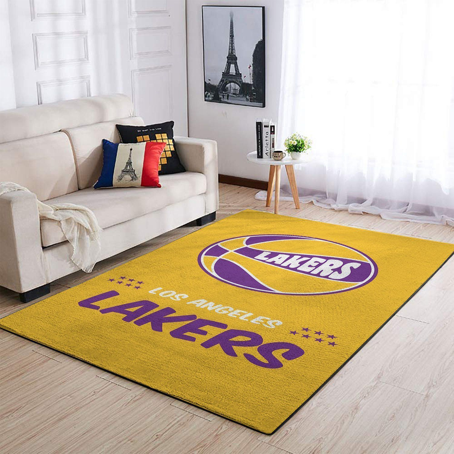 Amazon Los Angeles Lakers Living Room Area No3661 Rug