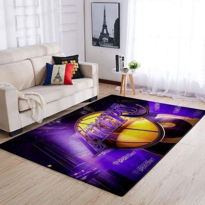 Amazon Los Angeles Lakers Living Room Area No3662 Rug