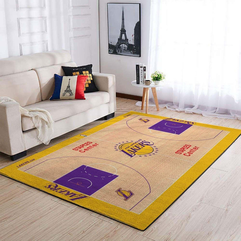 Amazon Los Angeles Lakers Living Room Area No3664 Rug